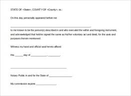 Notary Public Template Notary Public Document Template