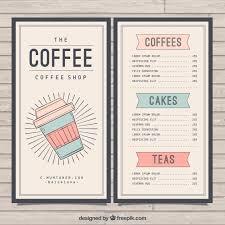Retro Cafe Menu Template Vector Free Download