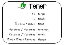 Spanish Tener Chart