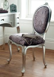régency french mid 18th century silver leaf dressing table chair