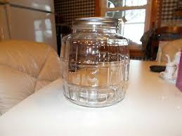 anchor hocking 1 gallon clear glass barrel jar with lid