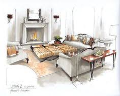 interior design color sketches. Unique Interior Room Interior Design Sketch Theres A Smoky Approach To The Colors May Be  Because It Is Grey But Intended Interior Design Color Sketches E