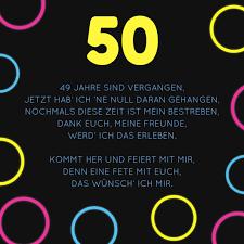 Einladung Zum 50 Geburtstag Witzige Sprüche Und Gedichte Als