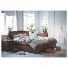 ikea malm bedroom furniture. Nightstands Malm Bed Frame High W 4 Storage Boxes Brown Stained  Regarding Malm Ikea Nightstand Bedroom Furniture O