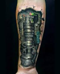 Biomechanické Tetování Lidé A Stroje