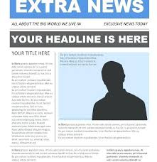Free Newspaper Article Template Dog Free Newspaper Template For Kids
