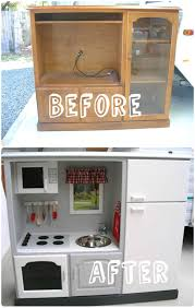Kitchen Tv Kids Play Kitchen From Old Tv Stand O Recyclart