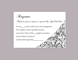 Party Rsvp Template Diy Wedding Rsvp Template Editable Text Word File Download