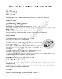 Free Resume Templates For Word Mechanic Resume Template Aircraft