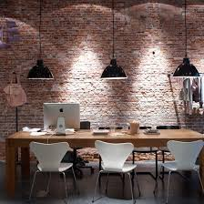 kitchen dining lighting ideas. Kitchen-diner With Pendant Lighting Exposed Brick Wall, Wooden Table, White Chair And Kitchen Dining Ideas H
