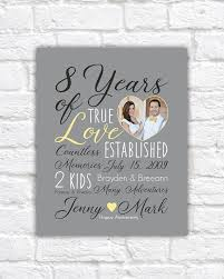wedding anniversary gift choose any year 8th anniversary 8 years 10 years 15 year customizable gift gift for him yellow gray wf538