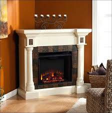 white electric fireplace entertainment center rustic corner electric