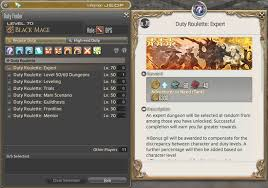 Ffxiv Xp Chart Duty Roulette Gamer Escape Gaming News Reviews Wikis