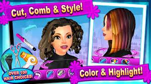 sunnyville salon game play free hair nail make up games screenshot 3 barbie