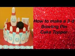 Bowling Pin Cake Decorations How to make a 100d Bowling Pin Cake Topper YouTube 23