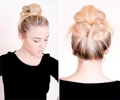 10 pretty hairstyles for dirty hair days messy bun