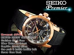 seiko specialty store 3s rakuten global market seiko pull mie seiko pull mie kinetic direct drive men watch rose gold x dai brown al black leather