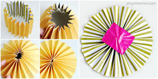 Paper Rosette Flower How To Make Paper Rosette Birds Artsy Momma