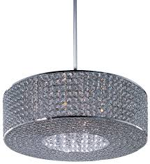 maxim lighting 39896bcps glimmer plated silver 10 light pendant undefined