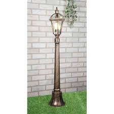 Средний <b>уличный фонарь Elektrostandard</b> Capella F черное золото