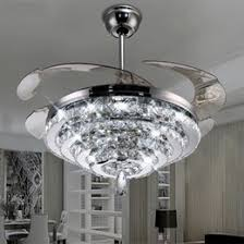 bedroom ceiling fans with remote control. Simple Control LED Crystal Chandelier Fan Lights Invisible Living Room  Bedroom Restaurant Modern Ceiling 42 Inch With Remote Control Throughout Fans With D