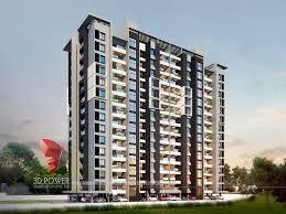 apartment design. Exterior-design-rendering-apartment-evening-view Apartment Design C