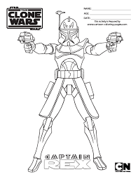 Star Wars The Clone Wars Captain Rex Coloring Pages 18gif 510660