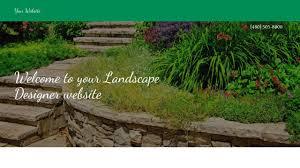 Landscape Website Designers Example 18 Landscape Designer Website Template Godaddy