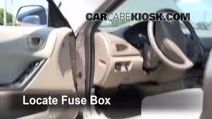 interior fuse box location 1999 2003 mitsubishi galant 2002 Pontiac Montana Van locate interior fuse box and remove cover