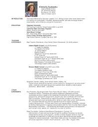 Resume Templates Example High School Accounting Teacher Best College