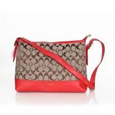 Coach Convertible Hippie In Signature Medium Red Crossbody Bags 21573