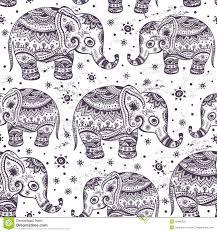 Elephant Pattern Fascinating Ethnic Elephant Seamless Stock Vector Illustration Of Backdrop