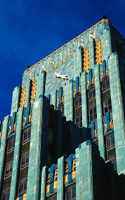 art deco style eastern columbia building in downtown los angeles
