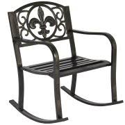 iron patio furniture. Best Choice Products Metal Rocking Chair Seat For Patio, Porch, Deck,  Outdoor W Iron Patio Furniture