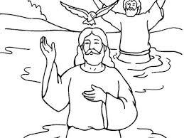 Jesus Baptism By John The Baptist Coloring Page Netart Jesus Being