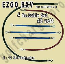 golf cart cables & parts for ez go rxv ebay Ezgo Rxv Wiring ezgo rxv golf cart 48 volt 4 gauge heavy duty battery cable wiring set ezgo rxv wiring diagram
