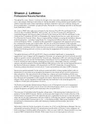 Narrative Resume Samples narrative resume examples Physicminimalisticsco 1