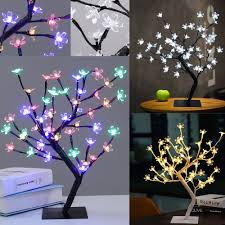 details about 45cm 48 led lighted cherry blossom tree light xmas indoor bonsai flower lamp usa