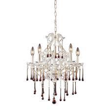 titan lighting once 5 light antique white ceiling mount chandelier
