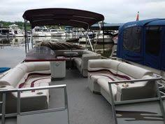 Gray Red & Charcoal Pontoon Boat Furniture