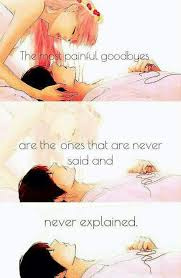Love Anime Quotes Inspiration Painful Goodbyes Image 48 By Marine48 On Favim