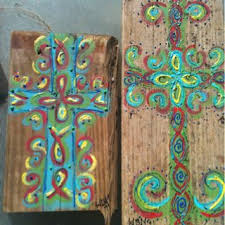Pin by Wendi Mullins on my crafts I sell   Cross crafts, Church crafts,  Cross paintings