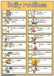 Exercise Daily Routine Chart Daily Routines Interactive Worksheets