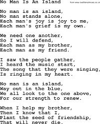 joan baez song no man is an island lyrics joan baez song no man is an island lyrics