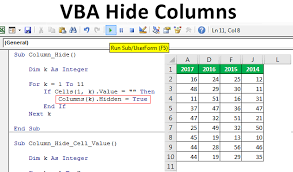 Vba Hide Columns How To Hide Columns In Excel Vba With