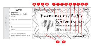 valentines day draw tickets raffle ticket printers valentines design raffle ticket