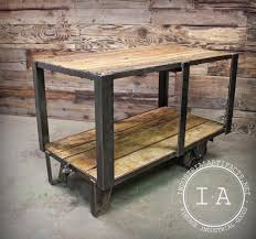 kitchen island cart industrial. Plain Island Vintage Industrial Ca 1950u0027s Factory Cart Kitchen Island Console Table In Artifacts