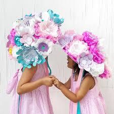 Paper Flower Hats Pin On Avantimorocha Diy