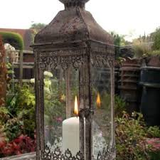 antique outdoor lamps uk. antique vintage style large metal lantern candle holder garden or home rustic outdoor lamps uk
