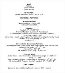 college resume template pdf